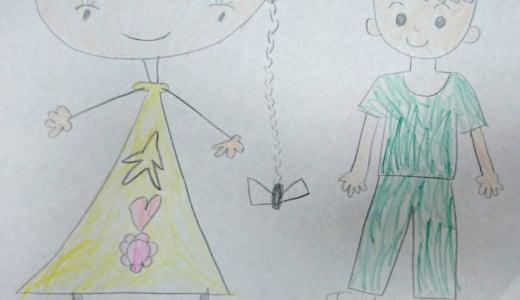5歳の女の子と一緒にお絵かきしました