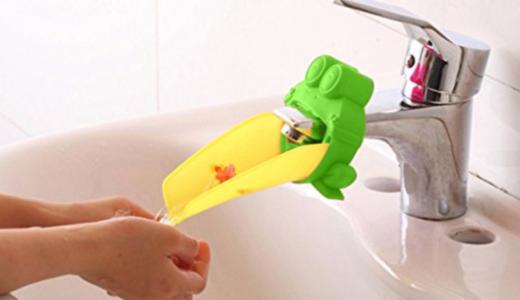 「ウォーターガイド」を付けたら、子どもの手洗いが楽になりました♪