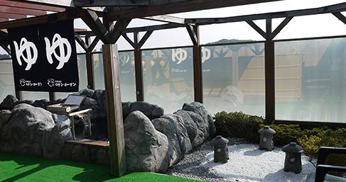 橋本駅から送迎バスに乗って、0歳から入れる日帰り天然温泉「ロテン・ガーデン」に行きました